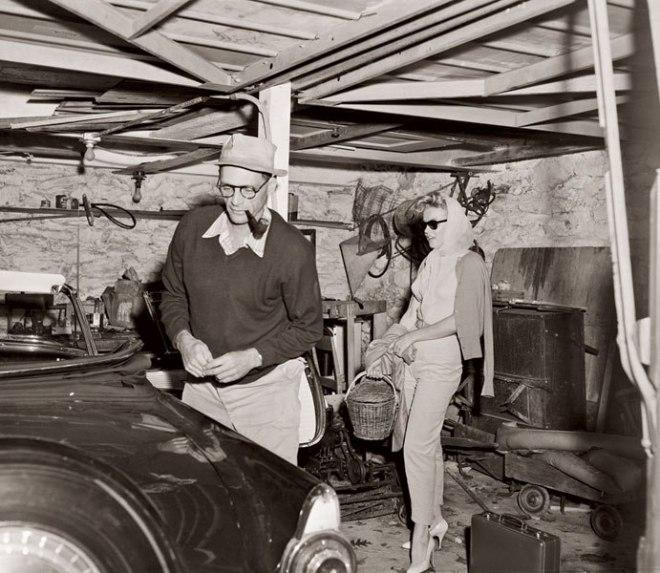 Marilyn Monroe és Arthur Miller otthon